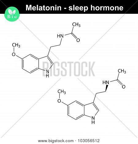 Melatonin Hormone Molecule