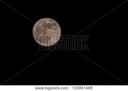 Full Moon Over Sky At Night.super Moon 28 Sep 2015