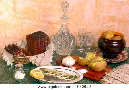 Traditional Russian Table