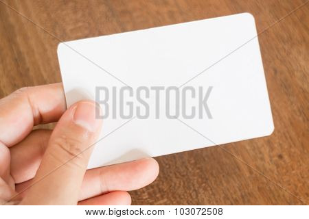 Hand Holding A Business Card