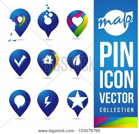Map Pins Icon