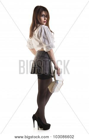 Attractive Young Female Student