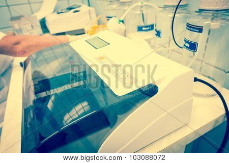 microplate readers or microplate photometers, are instruments which are used to detect biological, chemical or physical events of samples in microtiter plates.