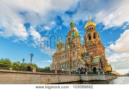 Saint Petersburg/Russia - August 13, 2015: Church of Our Savior on Spilled Blood