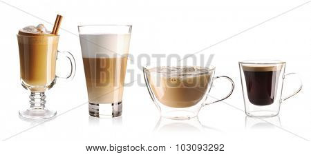Coffee collection isolated on white