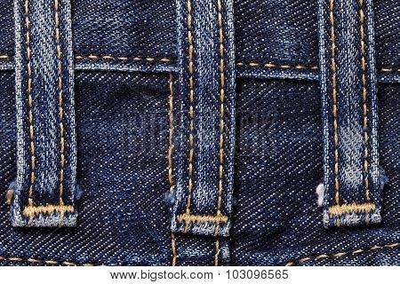 Jeans close-up seam texture