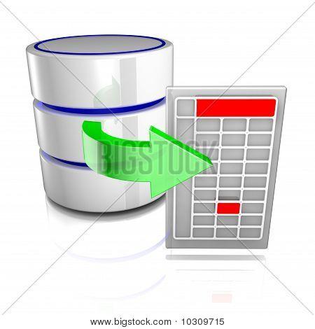 Exportieren von Daten aus einer Datenbank