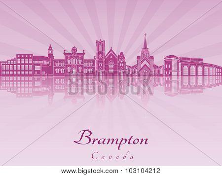 Brampton Skyline In Purple Radiant Orchid