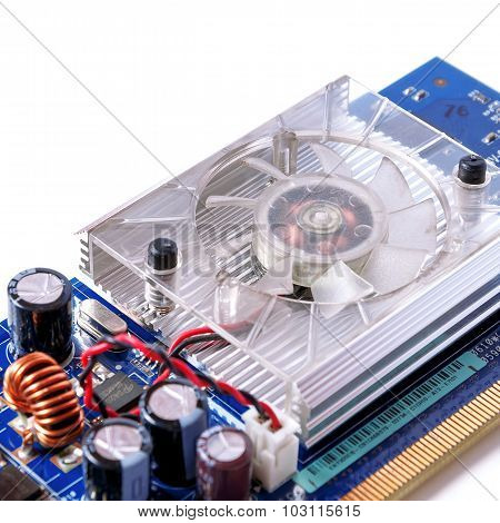 Single Computer Videocard Isolated On White Background