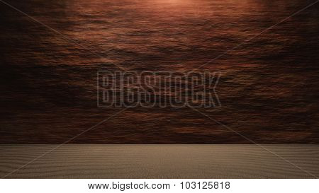 Rock Wall Background With Ground Level