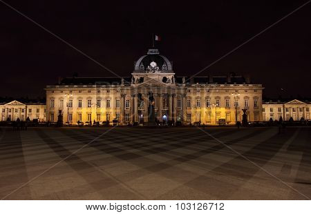 Military School by night in Paris