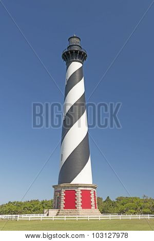 Dramatic Lighthouse On A Sunny Day