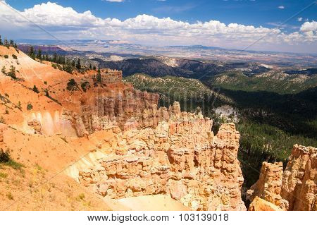 Vast Landscape Of Bryce Canyon National Park