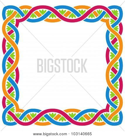 Illustration Abstract Celtic Weaving Framework, Isolated on White Background - Vector poster