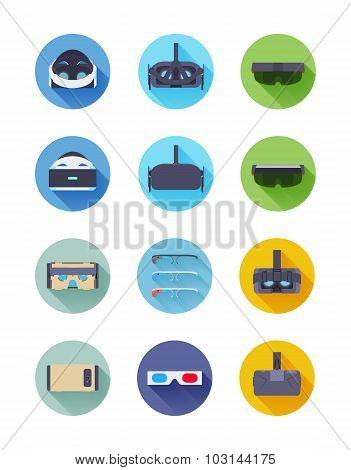 Virtual and augmented reality icons