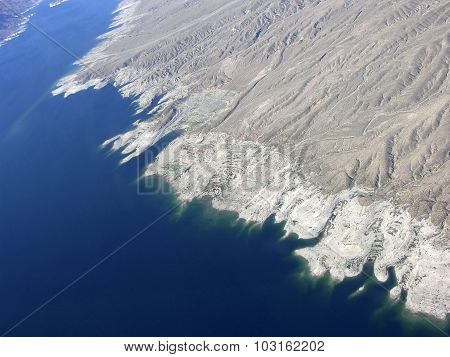 Lake Mead And Mountains