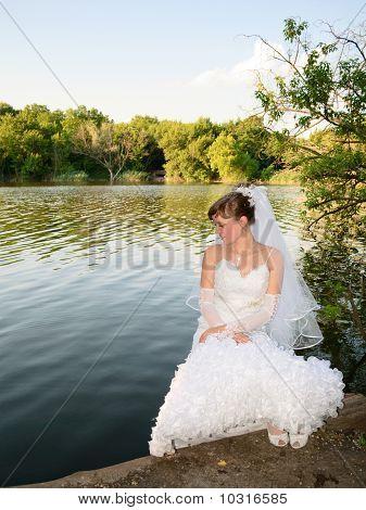 Bride At The Lake