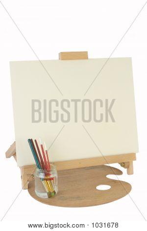 Table Easel & Canvas