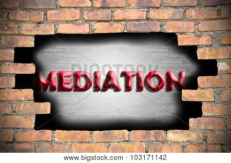 Mediation In The Hole Of Brick Wall
