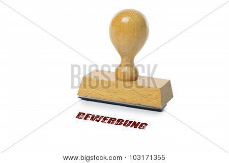 Bewerbung Rubber Stamp