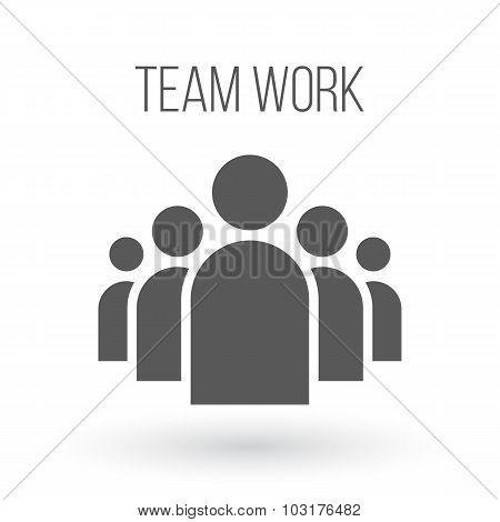 Group of People Business Vector Icon. Team Work Flat Icon for yo