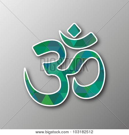 Hinduism Symbol In Mozaic