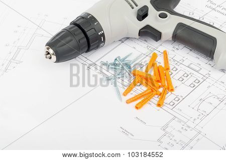Screw gun on draft with crimping lug