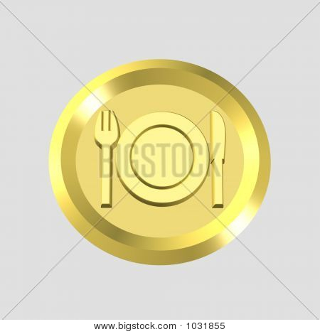 Gold Restaurant Icon