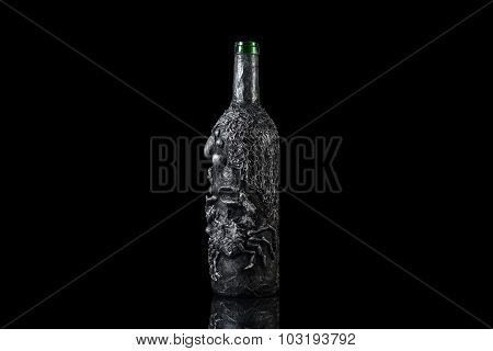 Old mystic Halloween fantasy magic bottle