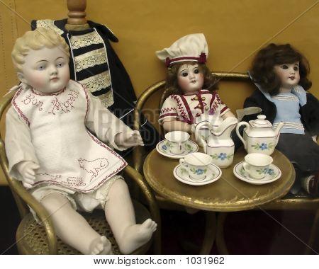 Many Antique Toy Dolls