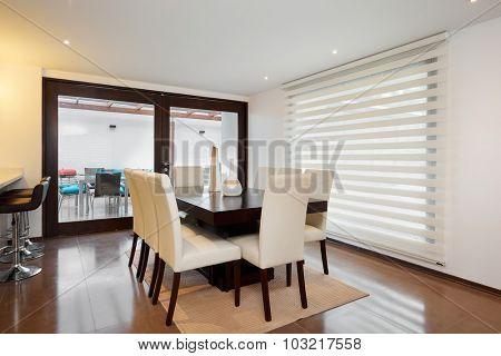 Interior design: Modern elegant dining room