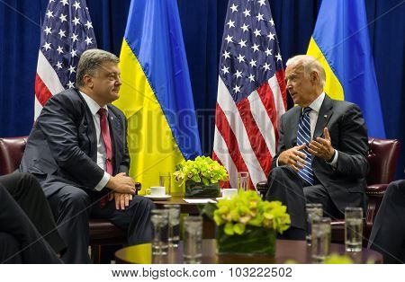 Petro Poroshenko And Joe Biden