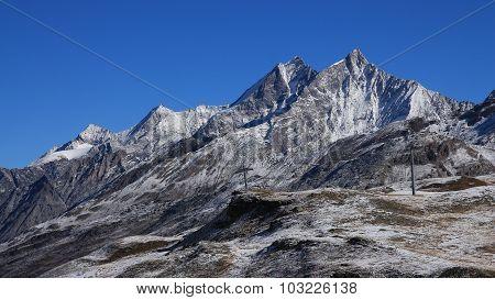 High Mountains In Zermatt