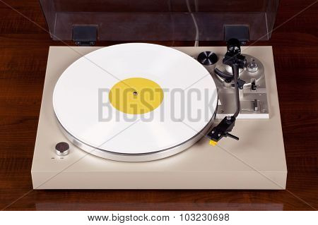 Analog Stereo Turntable Vinyl Record Player