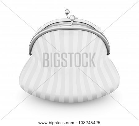 White Purse Isolated