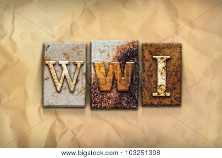 Wwi Concept Rusted Metal Type