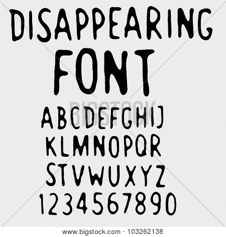 Disappearing font