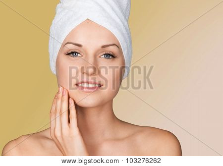 Microdermabrasion Peel Beauty Treatment Human Face Women Smooth Wrinkled poster