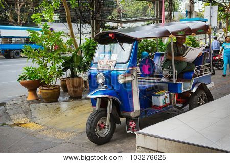 Taxis Waiting For Customers. Thailand