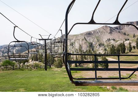 Ski Lift Chairs In Summer
