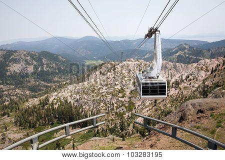 Dramatic View Of Hanging Gondola