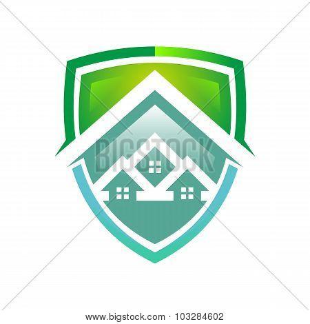 Logo mortgage design real estate graphic icon vector