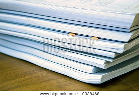 Documents On Table