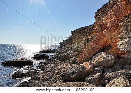 Rocky Coastline Of Black Sea