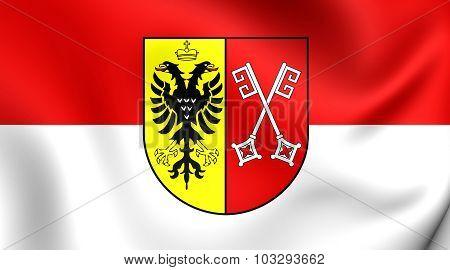 Flag Of Minden City (north Rhine-westphalia), Germany.
