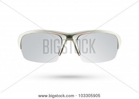 Sun Glasses Sport Style Isolated On White Background.