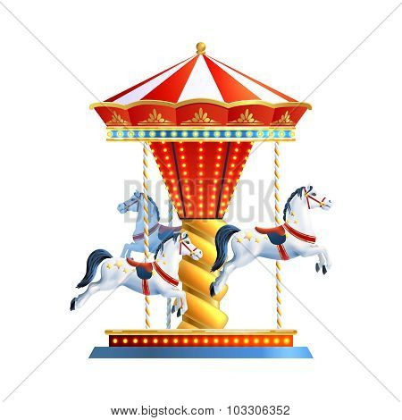 Realistic Carousel Isolated