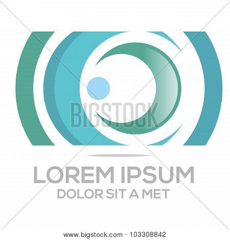 Logo Circle letter round vector icon design