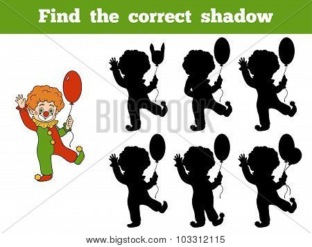 Find The Correct Shadow: Halloween Characters (clown)