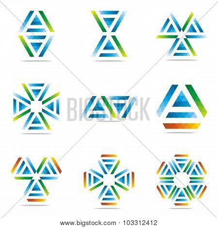 Logo all sales abstract symbol Vector Design